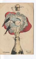 CPA - ILLUSTRATEUR - Signée MOUTON - ART NOUVEAU - Nu - L'Explosion - Champagne - Dos Vierge - - Other Illustrators