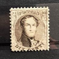 België, 1863, Nr 14, (*) Zonder Gom, OBP 130€ - 1863-1864 Medallions (13/16)
