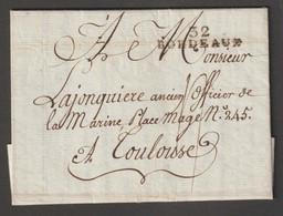 32 BORDEAUX Sur Lettre Pour Toulouse - 1801-1848: Precursors XIX