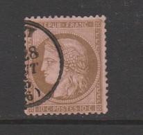 Cérès De 1871 10c Brun Sur Rose N°58 - 1871-1875 Cérès