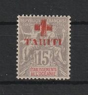 Tahiti N°35 - 1915 Croix Rouge 15C Gris - Unused Stamps