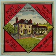 Etiquette Pont-l'Evêque -Domaine Pays D'Auge- Fromagerie G.Daufresne St-Pierre-de-Cormeilles Normandie - Eure  A Voir ! - Cheese