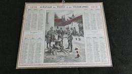 Almanach Des Postes Et Télégraphes 1919 - Etape Officier Goûtant La Soupe  - Bon état Complet- Calendrier - Big : 1901-20