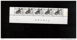 ABD0551 PAAR 2351 PRE834 Buzin 10fr 6/2/1991 Bande Datée Datumstrook - 1985-.. Pájaros (Buzin)