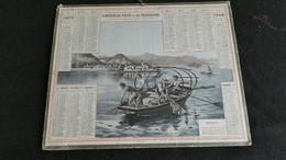 Almanach Des Postes Et Télégraphes 1908 - Pêcheurs Sur Le Lac Majeur   - Bon état Complet- Calendrier - Big : 1901-20