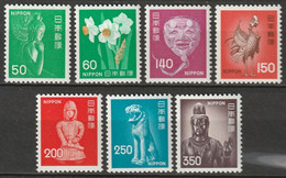 Japan 1976 Sc 1244-53  Set Most MNH** - Unused Stamps