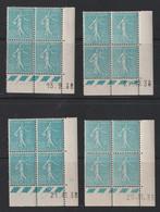N°362 Quatre Coins Datés En Bloc De 4 - 1903-60 Sower - Ligned