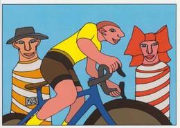 Cpm 1741/695 ERGON - Homme à Bicyclette - Alsacien - Alsacienne - Vélo - Cyclisme - Bicycle - Illustrateur - Peintre - Ergon