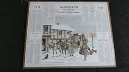 Almanach Des Postes Et Télégraphes 1911 - Le Relai De Poste - Angleterre 1830   - Bon état Complet - Calendrier - Big : 1901-20