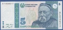 TAJIKISTAN - P.15 – 5 Somoni 1999 - UNC  Prefix BF - Tajikistan