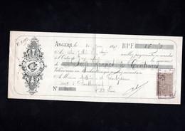 ANGERS - Lettre De Change Illustrée 1895 - J. CESBRON - Grainier - Letras De Cambio