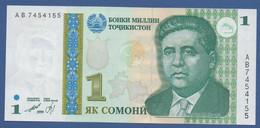 TAJIKISTAN - P.14 – 1 Somoni 1999 Prefix AB - Tadschikistan
