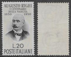 Italia Italy 1950 Righi Sa N.632 Nuovo Integro MNH ** - 1946-60: Nieuw/plakker