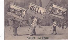 CARD ACQUI SALUTI DA... TRE GOBBI CON VEDUTINE (ALESSANDRIA)  FP-V-2-0882-27221 - Alessandria