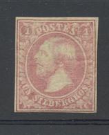 2 (*)  Rose Carmin Neuf Regommé Cote 2000-€ Comme *  Neue Gummi. Filigrane W - 1852 William III