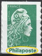 2021 - Y/T 1598 - Type II -  Marianne L'engagée Tarif Lettre Verte (mention Philaposte Au Lieu De Phil@poste) AA - NEUF - Nuovi
