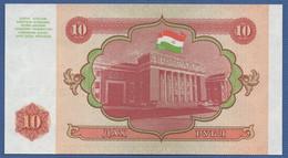 TAJIKISTAN - P.3 – 10 Ruble 1994 UNC - Tajikistan