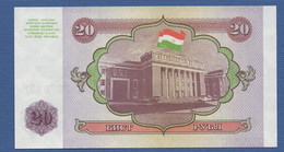 TAJIKISTAN - P.4 – 20 Ruble 1994 UNC - Tajikistan