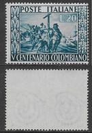 Italia Italy 1951 Colombo Sa N.660 Nuovo Integro MNH ** - 1946-60: Nieuw/plakker