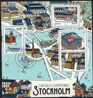"""2021 """" CAPITALES EUROPÉENNES - STOCKHOLM"""" - BLOC FEUILLET - OBLITERE 1er JOUR PARIS 261.03.2021 - Usati"""