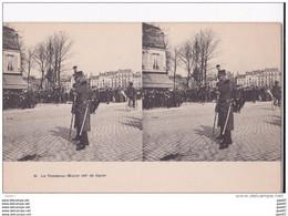 """Carte   """"  STEREOSCOPIQUE  """"    Réf-JP-W-192  ( Militaria )        Le Tambour -Major       """"""""  46e De Ligne """""""" - Regimientos"""