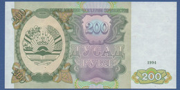 TAJIKISTAN - P.7 – 200 Ruble 1994 UNC - Tajikistan