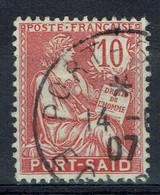 "Port-Saïd (Egypte), 10c, Type ""MOUCHON"", 1902, Obl TB - Usati"