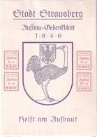 Stadt Strausberg 1946 Aufbbau Gedenkblatt, Helft Am Aufbau, Bloc - Unused No Gum Hinged - Autres