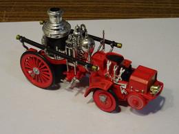 Camion De Pompier Modèle Réduit En Métal Model à Vapeur 1912 (chaudière 1899) Christie Front Drive Steamer - Autres