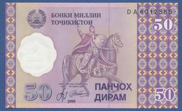 TAJIKISTAN - P.13 – 50 Diram 1999 UNC Prefix DA - Tajikistan