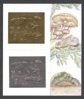 Guyana, 1994, Butterflies, Mushroom, Frog, Turtle, Gold, Silver, MNH, Michel Block 391 - Guyana (1966-...)