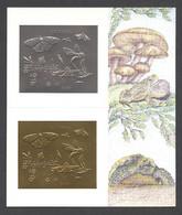 Guyana, 1994, Butterflies, Mushroom, Frog, Turtle, Silver, Gold, MNH, Michel Block 392 - Guyana (1966-...)