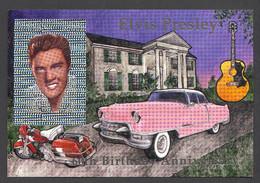 Guyana, 1994, Elvis Presley, Singer, Cadillac, Harley Davidson, Guitar, Hologram, Silver, MNH, Michel Block 405 - Guyana (1966-...)