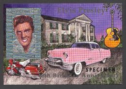Guyana, 1994, Elvis Presley, Singer, Cadillac, Harley Davidson, Guitar, Hologram, Silver, SPECIMEN,MNH, Michel Block 405 - Guyana (1966-...)