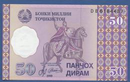 TAJIKISTAN - P.13 – 50 Diram 1999 UNC Prefix DB - Tajikistan