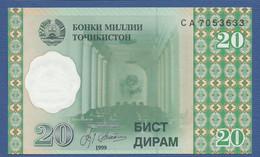 TAJIKISTAN - P.12 – 20 Diram 1999 UNC Prefix CA - Tajikistan