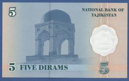 TAJIKISTAN - P.11 – 5 Dirams 1999 UNC Prefix BA - Tajikistan