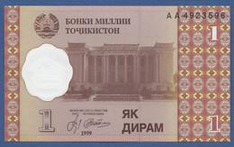 TAJIKISTAN - P.10 – 1 Diram 1999 UNC Prefix AA - Tajikistan