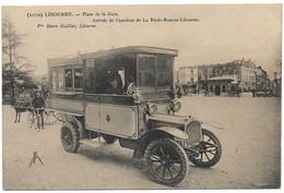 LIBOURNE - Place De La Gare - Arrivée De L'Autobus De La Réole-Rauzan-Libourne. - Libourne