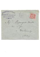 B59 MAISON MARCHE MARTY - PEROT Successeur Aigre Sur Cognac Pour Narbonne Semeuse Lignée - 1877-1920: Periodo Semi Moderno