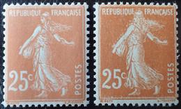 R1491/240 - 1927/1931 - TYPE SEMEUSE CAMEE - N°235 (IIIB) Et N°235 (IIIC) NEUFS** - Unused Stamps