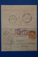 N23 FRANCE BELLE CARTE PNEUMATIQUE ASSEZ RARE 1947 PARIS VOYAGEE POUR SEVRES + AFFRANCH.INTERESSANT - Telegraphie Und Telefon