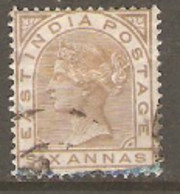 East India  1874  SG  80  6a  Olive Bistre  Fine Used - 1854 Compañia Británica De Las Indias