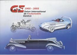 SALON INTERNATIONALE DE L'AUTOMOBILE DE GENEVE 2005 1er Jour Genève Voiture Auto Pneu - Stamped Stationery