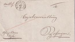 SUISSE 1853 LETTRE DE MURGENTHAL - ...-1845 Prephilately