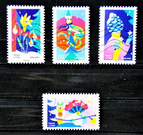 FRANCE 2020 - Noël Spectaculaire - Petit Lot De 4 Timbres. - Adhesive Stamps