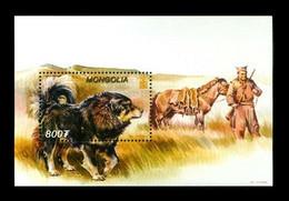 Mongolia 2002 Mih. 3415 (Bl.330) Fauna. Dogs. Tibetan Mastiffs MNH ** - Mongolia