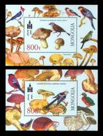 Mongolia 2003 Mih. 3447/48 (Bl.335/36) Flora And Fauna. Mushrooms And Birds MNH ** - Mongolie
