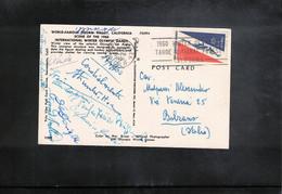 Jugoslawien / Yugoslavia 1960 Olympic Games Squaw Valley Interesting Postcard - Invierno 1960: Squaw Valley
