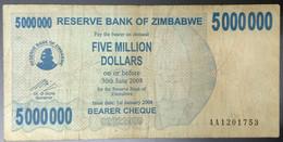 EC0318 - Zimbabwe 50000000 5 Million Dollars Banknote 2008 P-54 - Zimbabwe